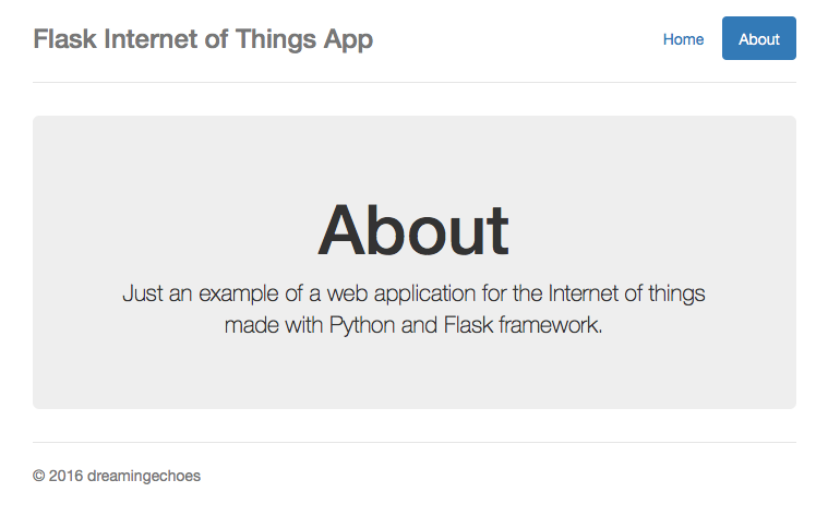 Internet of things with Python and Flask - Dreamingechoes